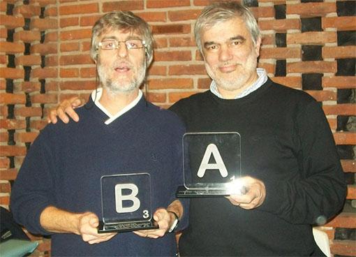 Los campeones del torneo mundial de Scrabble 2012