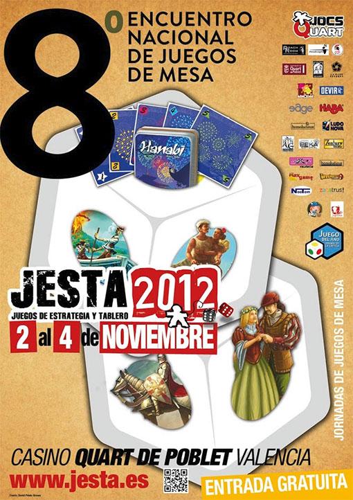 cartel del encuentro nacional de juegos de mesa jesta 2012