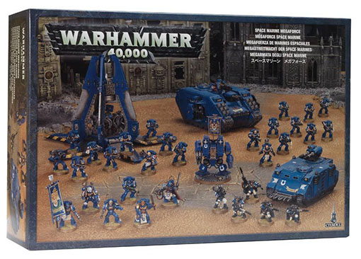 Megafuerza de los marines Espaciales de Games Workshop
