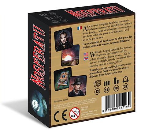 Trasera de la caja del juego Nosferatu