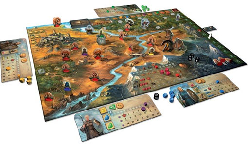 componenetes del juego Legends of Andor