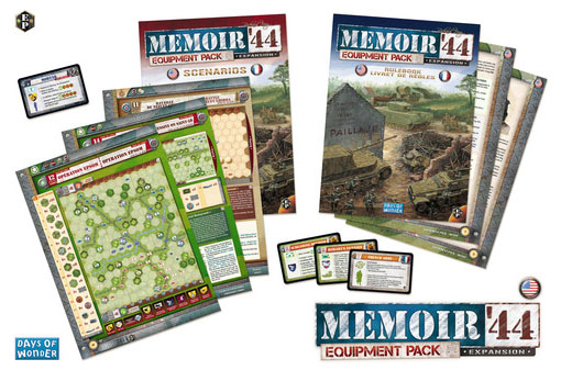 cartas de la expansión Equipment pack de memoir 44