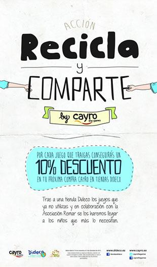cartel de la campaña recicla y comparte