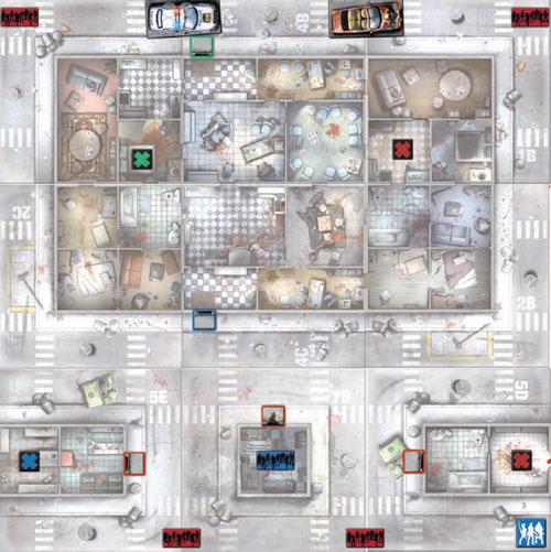 Mapa de Salto al apartamento para zombicide