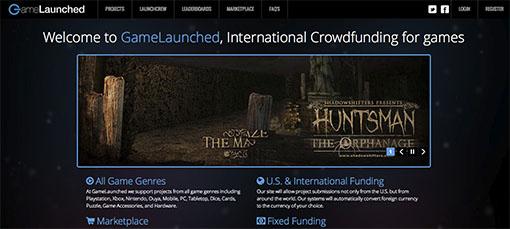 Pantalla de la plataforma GameLaunched