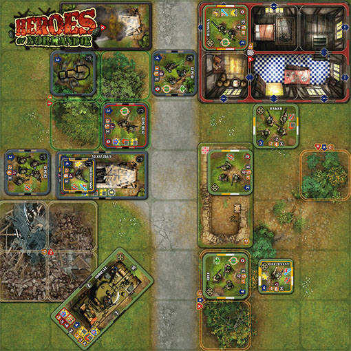 Tablero de Heroes of Normandia