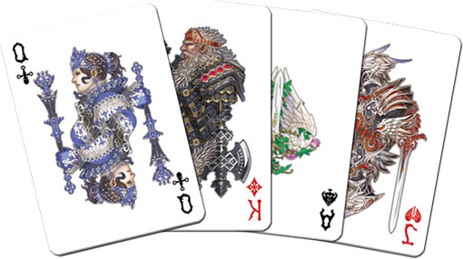 cartas del medusa poker desk con ilustraciones de anima