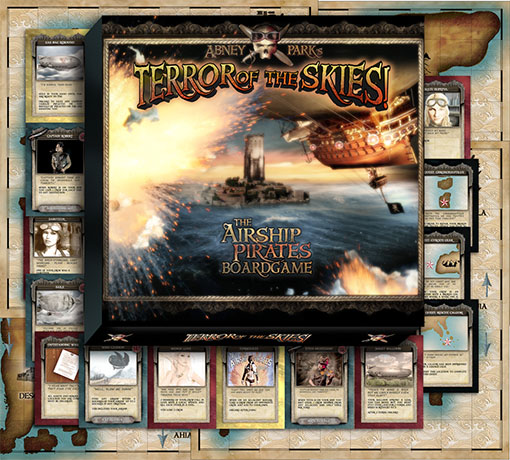 Caja y Componentes de Terror of the Skies