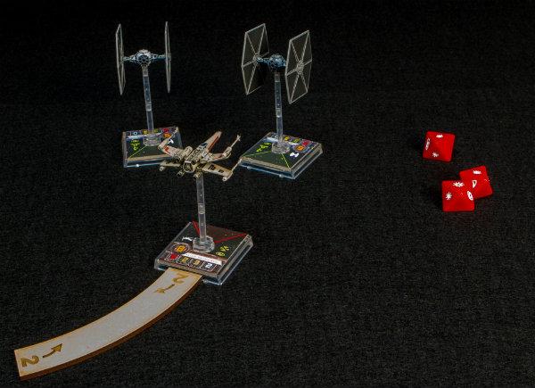 Bases de desplazamiento en MDF para X-Wing