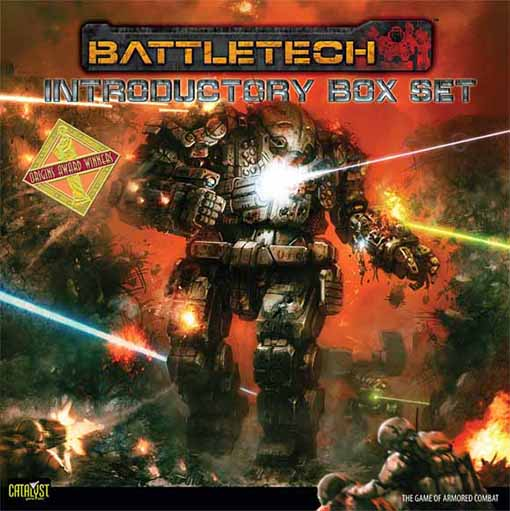 Portada del la caja de introducción de battletech 25 aniversario