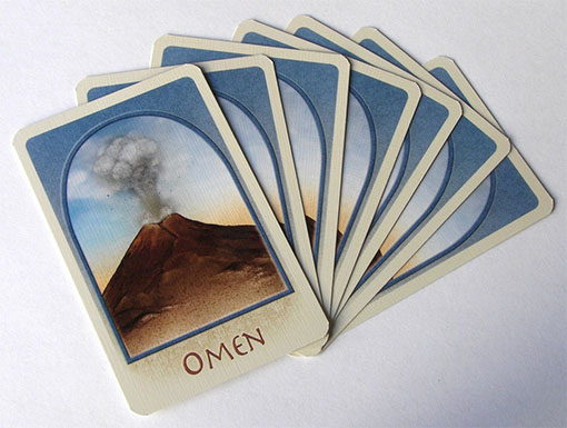 Cartas de omen de The Downfall of Pompeii