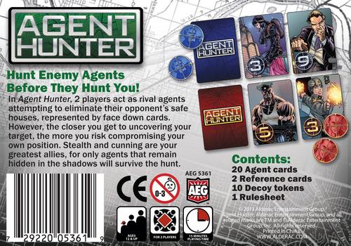 Juego de cartas Agent Hunter