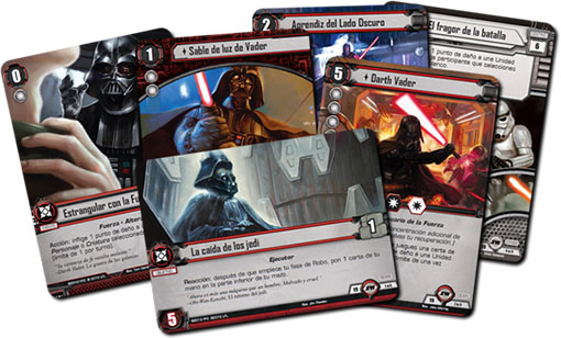 Set de cartas objetivos de Star wars