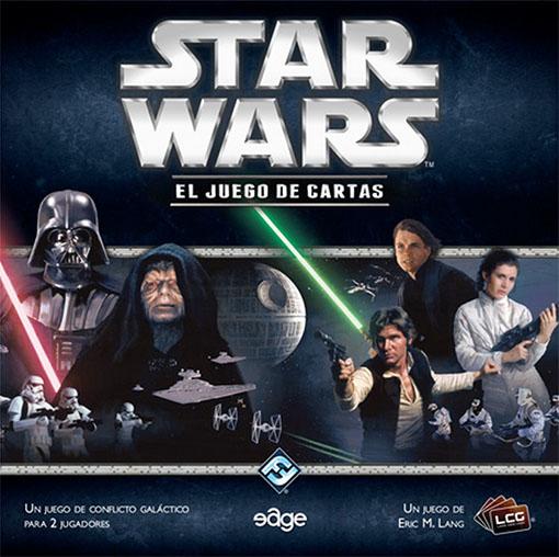 Caja de el juego de cartas de star wars