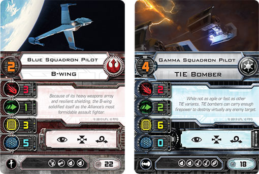 Nuevos Bombarderos de la próxima expansión de X-Wing