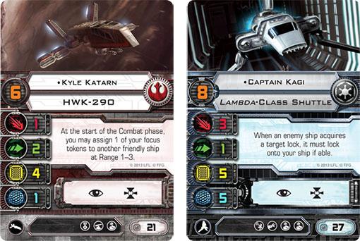 Naves de apoyo de la nueva expansión de X-Wing
