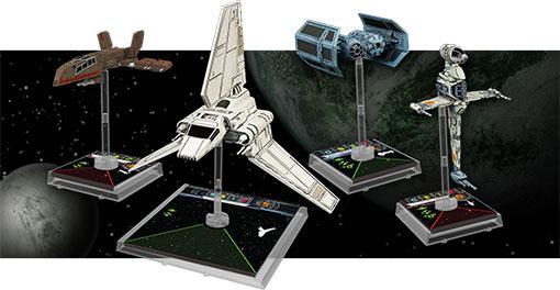Las cuatro naves d ela nueva expansión de X-Wing