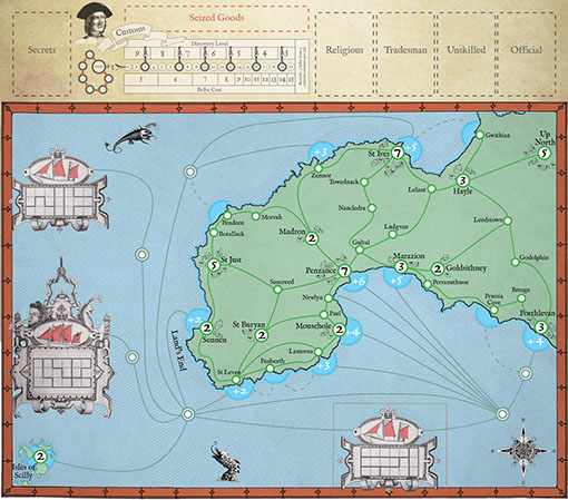 Tablero de juego de Cornish Smuggler