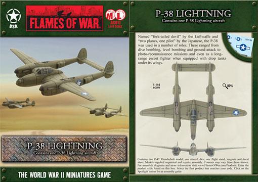 Caja del P-38 Lightning