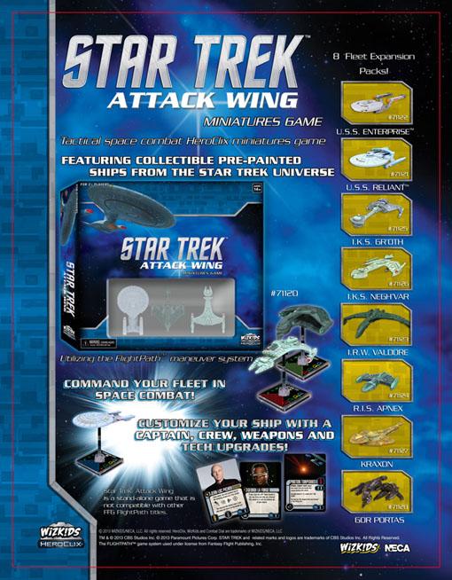 Poster con las nuevas expansiones de Star Trek attack wing