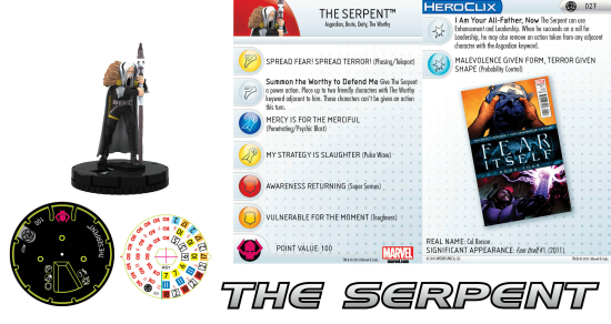 Miniatura The Serpent para Heroclix
