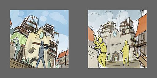 Concept art de Los Constructores