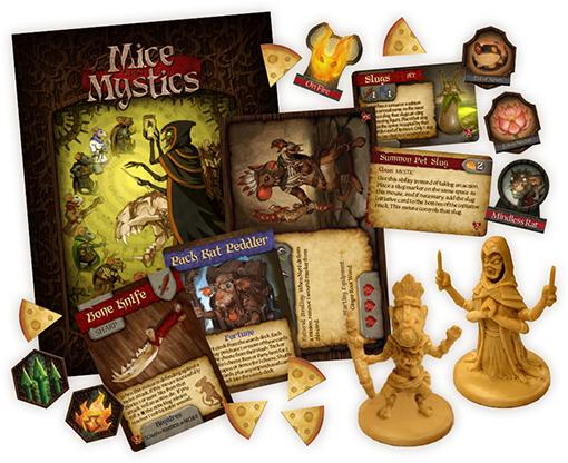 Componentes de la nueva expansión de Mice and Mystics