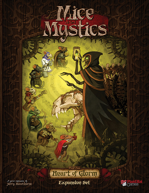 Portada de la expansión the heart of Glorm de Mice and Mystics