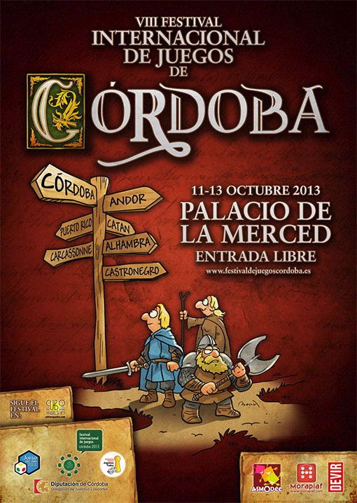 Cartel del festival internacional de juegos de cordoba 2013