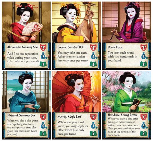 Cartas de Geisha de Mai-Star