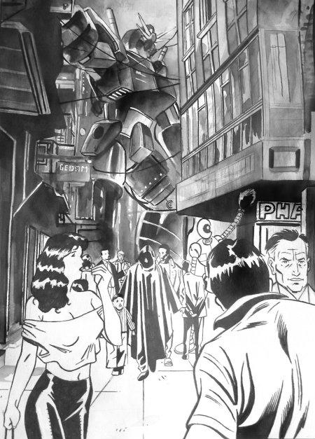 Ilustración de Samurai Robots Battle Royale