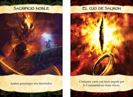 Cartas de el señor de los anillos: El Enfrentamiento