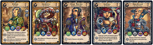 Cartas de personajes de Shadow over the empire