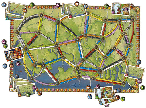 Tablero de Ticket to ride Nederland