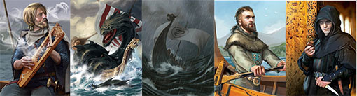 ilustraciones de las cartas de Vikings