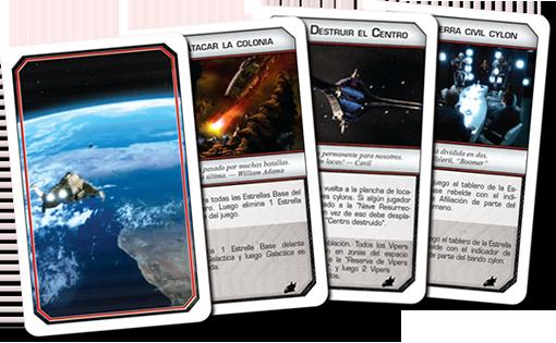 Nuevas cartas de Battlestar Galactica Amanecer