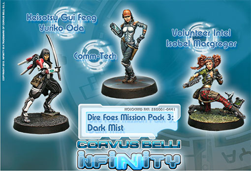Miniaturas del dark mist pack de infinity