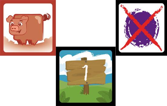 Componentes del juego Secuezoos