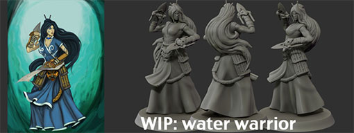 WIP de la miniatura de guerrero del viento