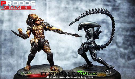 depredador y alien de alien vs predators