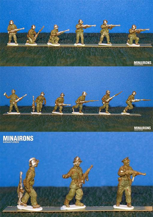 Greens de infanteria republicana de Minairons Miniatures