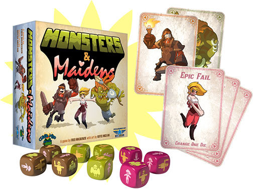componentes de monsters and maidens