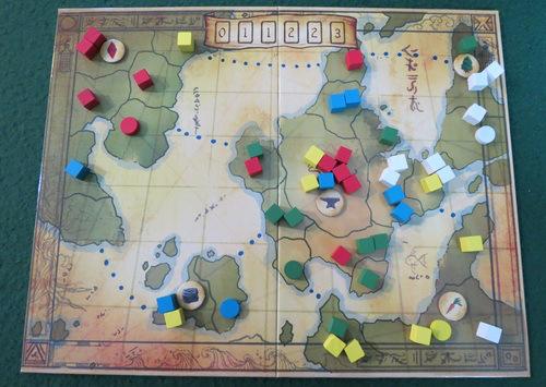 Tablero del juego Un Imperio en 8 Minutos