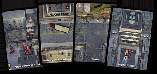Cartas de localizacion de Zombies el juego de cartas