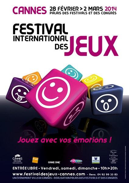 Cartel del festival internacional de juegos de Cannes donde se entregará el premio Sa D'or