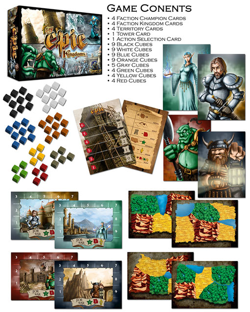 Componentes de Tiny Epic Kingdoms
