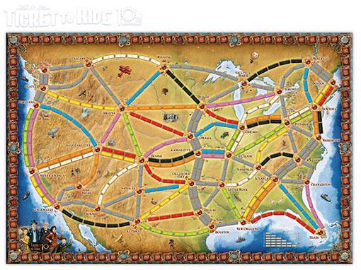 mapa de la edición 10º aniversario de aventureros al tren