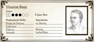 Baker Street RPG, foto personaje
