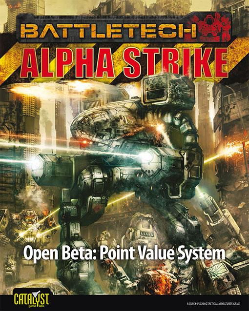 Portada de las reglas beta del nuevo sistema de puntos de battletech alpha strike