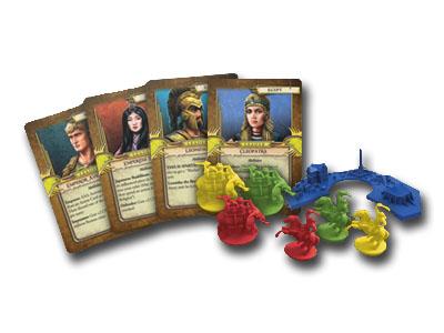 Algunos de los nuevos componentes de la nueva expansión de clash of cultures Civilizations